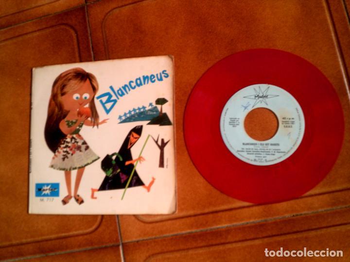 DISCO EN COLOR CUENTO BLANCANEUS AÑO 1967 (Música - Discos - Singles Vinilo - Música Infantil)
