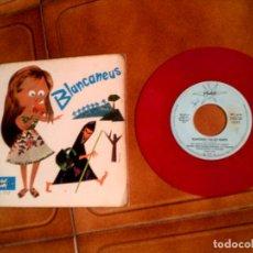 Discos de vinilo: DISCO EN COLOR CUENTO BLANCANEUS AÑO 1967. Lote 147715246