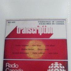 Discos de vinilo: FOLKSONGS OF CANADA FOLKLORES DU CANADA ( 1975 RADIO CANADA INTERNATIONAL ) MUY BUEN ESTADO. Lote 147719118