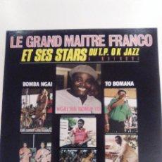 Discos de vinilo: LE GRAND MAITRE FRANCO ET SES STARS A NAIROBI ( 1986 EDIPOP FRANCE ) EXCELENTE ESTADO. Lote 147719838