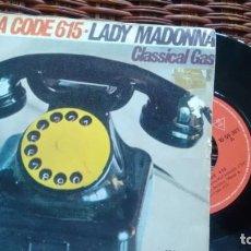 Discos de vinilo: SINGLE (VINILO) DE AREA CODE 615 AÑOS 70. Lote 147720942