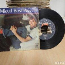 Discos de vinilo: MIGUEL BOSE / ANNA / EL JUEGO DEL AMOR (SINGLE 1978). Lote 147721626