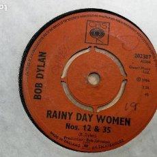 Discos de vinilo: SINGLES DISCO PEQUEÑO DOS CARAS DE BOB DYLAN, MUY ANTIGUO DE 1966. Lote 147721862