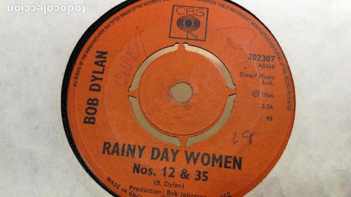 Discos de vinilo: Singles disco pequeño dos caras de BOB DYLAN, muy antiguo de 1966 - Foto 2 - 147721862