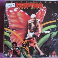 Discos de vinilo: LP - ERUPTION - LEAVE A LIGHT (SPAIN, ARIOLA 1978). Lote 147722494