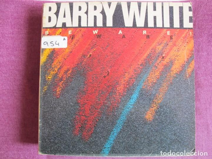 LP - BARRY WHITE - BEWARE (SPAIN, UNLIMITED GOLD RECORDS 1981) (Música - Discos - LP Vinilo - Funk, Soul y Black Music)