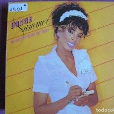 Discos de vinilo: LP - DONNA SUMMER - SHE WORKS HARD FOR THE MONEY (SPAIN, MERCURY RECORDS 1983). Lote 147723926