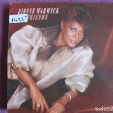 Discos de vinilo: LP - DIONNE WARWICK- FRIENDS (SPAIN, ARISTA RECORDS 1985). Lote 147724066