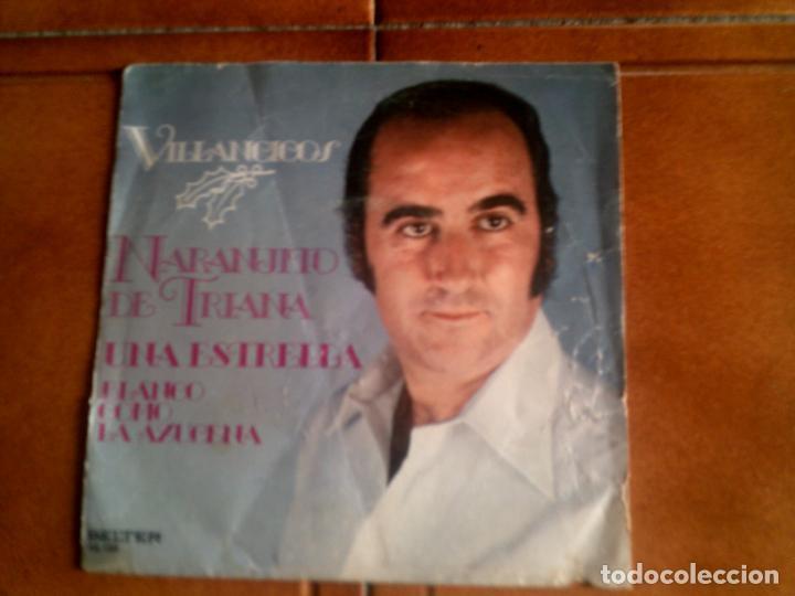 DISCO DE NARANJITO DE TRIANA VILLANCICOS (Música - Discos - Singles Vinilo - Flamenco, Canción española y Cuplé)