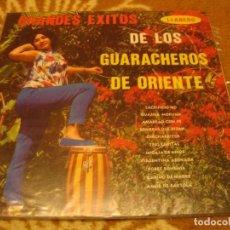 Discos de vinilo: LOS GUARACHEROS DE ORIENTE LP GRANDES ÉXITOS LLANERO VENEZUELA GUARACHA. Lote 147726142