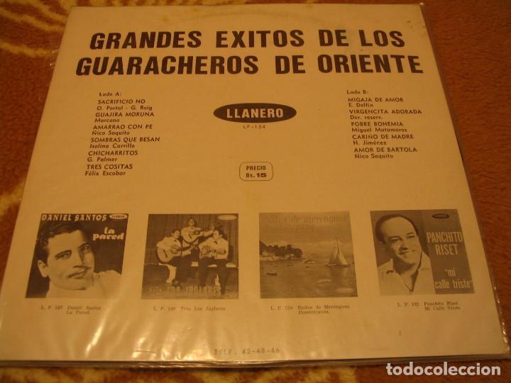Discos de vinilo: LOS GUARACHEROS DE ORIENTE LP GRANDES ÉXITOS LLANERO VENEZUELA GUARACHA - Foto 2 - 147726142