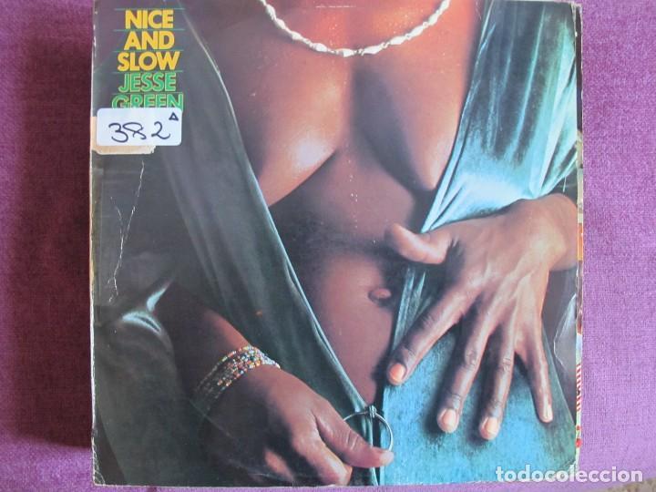 LP - JESSE GREEN - NICE AND SLOW (SPAIN, EMI RECORDS 1976) (Música - Discos - LP Vinilo - Funk, Soul y Black Music)
