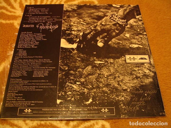 Discos de vinilo: ROBERTO ROENA Y SU APOLLO SOUND X LP EL PROGRESO DISCOMODA COLOMBIA 1977 LATIN SALSA - Foto 2 - 147727066
