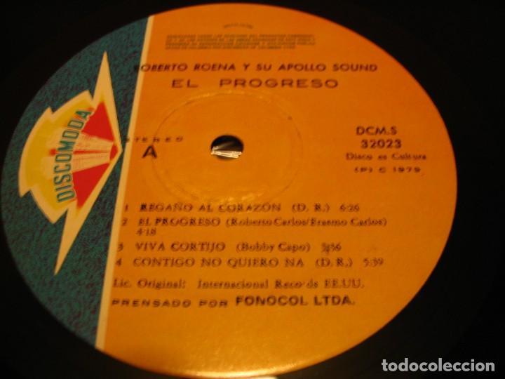 Discos de vinilo: ROBERTO ROENA Y SU APOLLO SOUND X LP EL PROGRESO DISCOMODA COLOMBIA 1977 LATIN SALSA - Foto 3 - 147727066