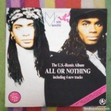 Discos de vinilo: MILLI VANILLI (ALL OR NOTHING - THE U.S. - REMIX ALBUM) LP 1989. Lote 147728074