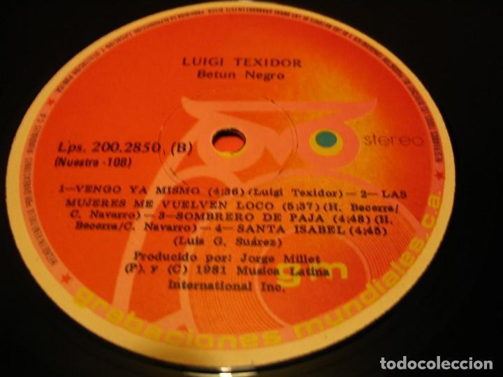 Discos de vinilo: LUIGI TEXIDOR LP BETÚN NEGRO NUESTRA VENEZUELA 1981 SALSA PLENA SON - Foto 3 - 147728258