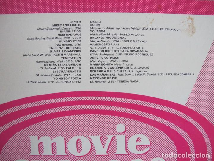 Discos de vinilo: LP - MOVIE AVANCE OTOÑO - VARIOS (PROMOCIONAL ESPAÑOL, MOVIEPLAY 1982,VER FOTO ADJUNTA) - Foto 2 - 147729550
