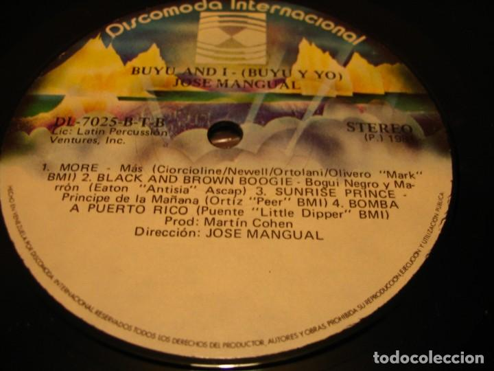 Discos de vinilo: JOSÉ MANGUAL LP BUYÚ DISCOMODA VENEZUELA LATIN JAZZ CHA-CHA - Foto 3 - 147730622