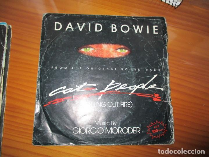 DAVID BOWIE . CAT PEOPLE (Música - Discos - Singles Vinilo - Pop - Rock - Extranjero de los 70)
