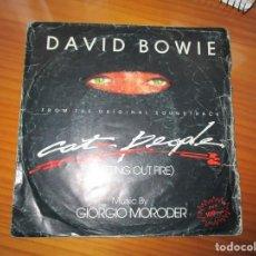 Discos de vinilo: DAVID BOWIE . CAT PEOPLE. Lote 147732930