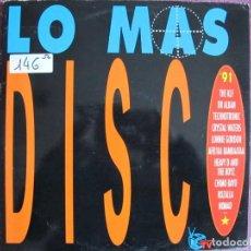 Discos de vinilo: LP - LO MAS DISCO - VARIOS (DOBLE DISCO, SPAIN, ARIOLA RECORDS 1991, VER FOTO ADJUNTA). Lote 147733718
