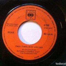 Discos de vinilo: TIKKI TAKKI SUZY AND LIES - BA DA DA DUM / WELCOME TO MY HOUSE - SINGLE 1970 - CBS - SIN PORTADA. Lote 147734062