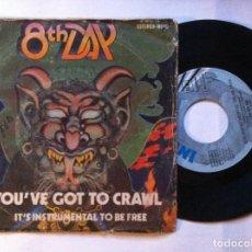 Discos de vinilo: THE 8TH DAY - YOU´VE GOT GO CRAWL / IT´S INSTRUMENTAL TO BE FREE - SINGLE 1972 - INVICTUS. Lote 147735314