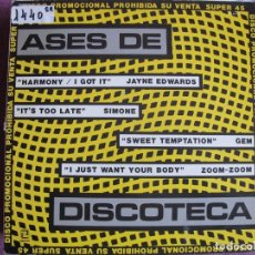 Discos de vinilo: MAXI - ASES DE DISCOTECA - VARIOS (MAXI, SPAIN, ZAFIRO 1984). Lote 147736166