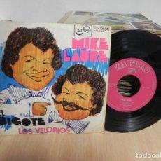 Discos de vinilo: MIKE LAURE - EL BIGOTE, LOS VELORIOS / SINGLE ZAFIRO. Lote 147736614