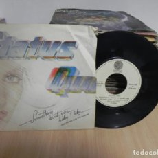 Discos de vinilo: STATUS QUO - SOMETHING 'BOUT YOU BABY I LIKE / ENOUGH IS ENOUGH - SINGLE . Lote 147737190