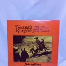 Discos de vinilo: NOSTALGIA RANCHERA LP. Lote 147737340