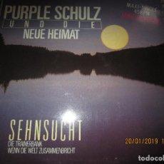 Discos de vinilo: PURPLE SCHULZ UND DIE NEUE HEIMAT MAXI 45 - ORIGINAL ALEMAN - ELECTROLA/EMI RECORDS 1983. -. Lote 147737498