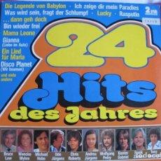 Discos de vinilo: LP - 24 HITS DES JAHRES - VARIOS (DOBLE DISCO, GERMANY, ARIOLA SIN FECHA, VER FOTO ADJUNTA). Lote 147737590