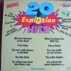 Discos de vinilo: LP - 20 EXPLOSION HITS - THE HILTONAIRES, OECHESTER UDO REICHEL (GERMANY, SONIC SIN FECHA, VER FOTO). Lote 147737886