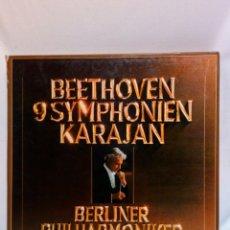Discos de vinilo: BEETHOVEN 9 SYMPHONIEN KARAJAN 8 LP. Lote 147740622