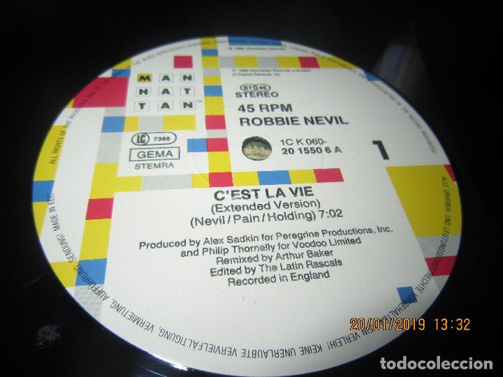 Discos de vinilo: ROBBIE NEVILL - CÉST LA VIE MAXI 45 R.P.M. - ORIGINAL HOLANDES - EMI RECORDS 1986 - - Foto 4 - 147741126