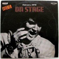 Discos de vinilo: ELVIS PRESLEY - ON STAGE, FEBRUARY 1970 - LP RCA VICTOR 1970 BPY. Lote 147741150