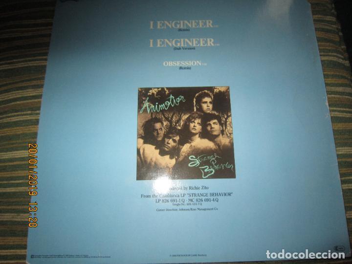 Discos de vinilo: ANIMOTION - I ENGINER MAXI 45 R.P.M. - ORIGINAL ALEMAN - CASABLANCA RECORDS 1986 - - Foto 2 - 147745090