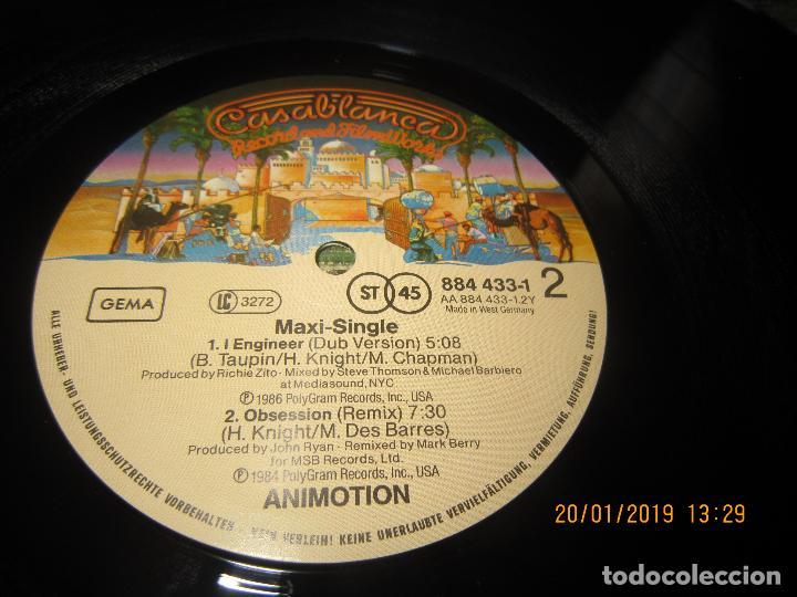 Discos de vinilo: ANIMOTION - I ENGINER MAXI 45 R.P.M. - ORIGINAL ALEMAN - CASABLANCA RECORDS 1986 - - Foto 7 - 147745090