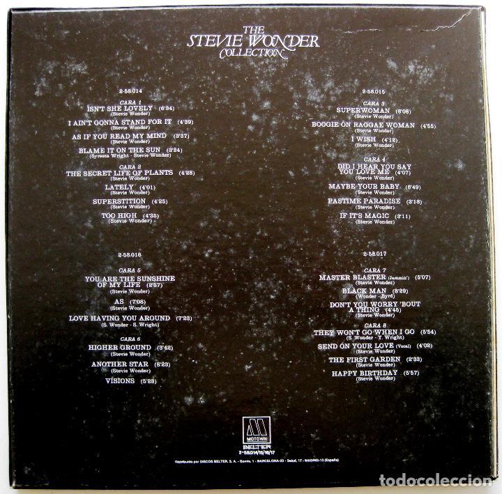 Discos de vinilo: Stevie Wonder - The Stevie Wonder Collection - Caja 4 LP Motown 1982 BPY - Foto 2 - 147745394