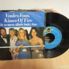 Discos de vinilo: ABBA - VOULEZ-VOUS + KISSES OF FIRE - SINGLE 1979 - CARNABY . Lote 147745706