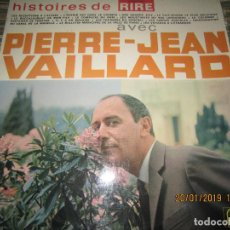 Discos de vinilo: PIERRE-JEAN VAILLARD - HISTORIES DE RIRE LP - ORIGINAL FRANCES - FONTANA RECORDS 1960 - MONOAURAL -. Lote 147747098