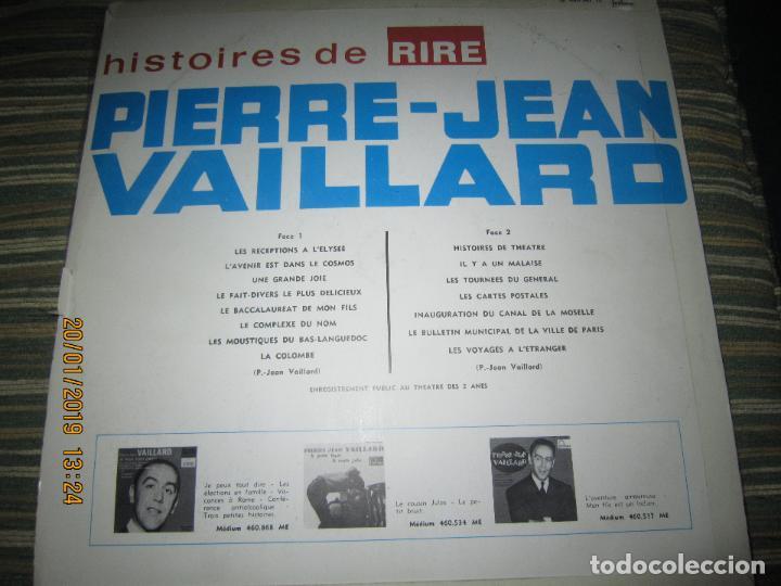 Discos de vinilo: PIERRE-JEAN VAILLARD - HISTORIES DE RIRE LP - ORIGINAL FRANCES - FONTANA RECORDS 1960 - MONOAURAL - - Foto 2 - 147747098