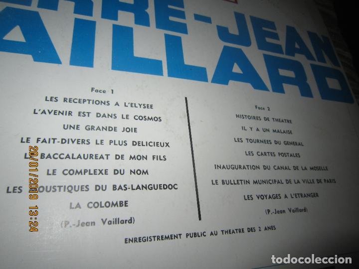 Discos de vinilo: PIERRE-JEAN VAILLARD - HISTORIES DE RIRE LP - ORIGINAL FRANCES - FONTANA RECORDS 1960 - MONOAURAL - - Foto 3 - 147747098
