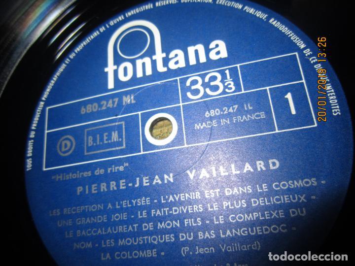 Discos de vinilo: PIERRE-JEAN VAILLARD - HISTORIES DE RIRE LP - ORIGINAL FRANCES - FONTANA RECORDS 1960 - MONOAURAL - - Foto 11 - 147747098