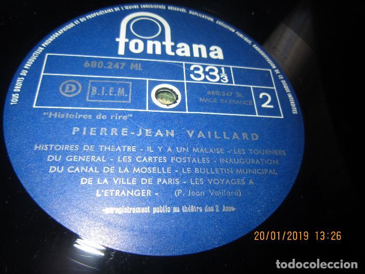 Discos de vinilo: PIERRE-JEAN VAILLARD - HISTORIES DE RIRE LP - ORIGINAL FRANCES - FONTANA RECORDS 1960 - MONOAURAL - - Foto 12 - 147747098