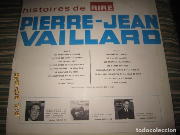 Discos de vinilo: PIERRE-JEAN VAILLARD - HISTORIES DE RIRE LP - ORIGINAL FRANCES - FONTANA RECORDS 1960 - MONOAURAL - - Foto 15 - 147747098
