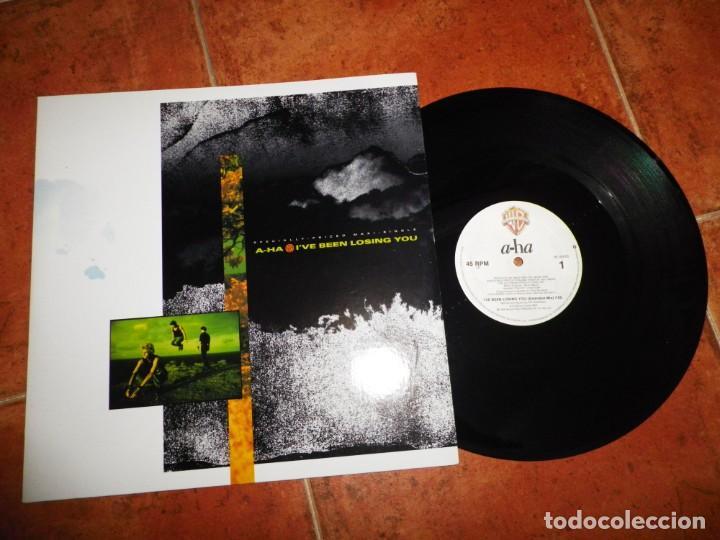 AHA I´VE BEEN LOSING YOU A-HA REMIX JELLYBEAN MAXI SINGLE VINILO DEL AÑO 1986 CANADA TIENE 3 TEMAS (Música - Discos de Vinilo - Maxi Singles - Pop - Rock - New Wave Extranjero de los 80)