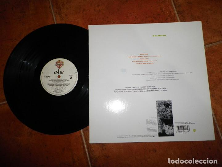 Discos de vinilo: AHA I´ve been losing you A-HA REMIX JELLYBEAN MAXI SINGLE VINILO DEL AÑO 1986 CANADA TIENE 3 TEMAS - Foto 2 - 147748322