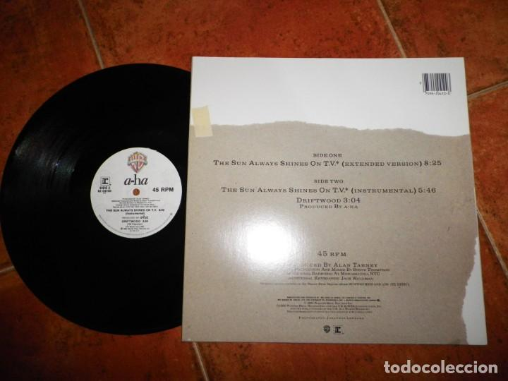 Vinyl-Schallplatten: AHA The sun always shines on T.V. A-HA MAXI SINGLE VINILO DEL AÑO 1985 CANADA CONTIENE 3 TEMAS RARO - Foto 2 - 147749098